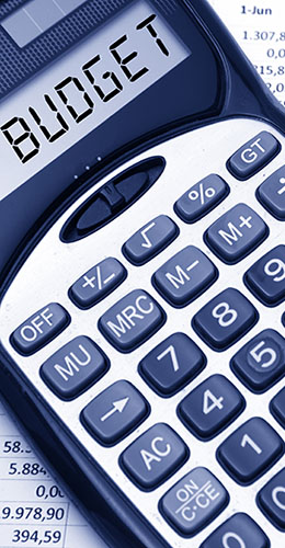 Calculator that says Budget