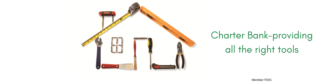 house made up of tools on white background